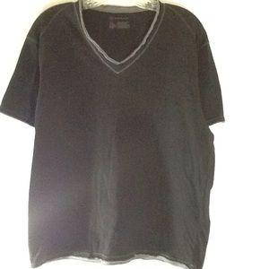 INC | Size L | Black/ Gray | V-Neckline T-Shirt